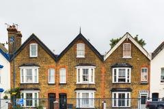Terrace houses. Three symmetrical terrace houses in Kent, UK Stock Photos