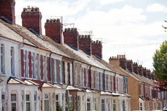 Terrace housing Cardiff Wales Royalty Free Stock Image