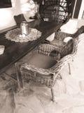 Terrace in ibiza stock image