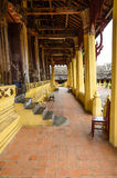 Terrace inside  Buddhist temple. The terrace inside Laos Buddhist temple,Vientiane Royalty Free Stock Image