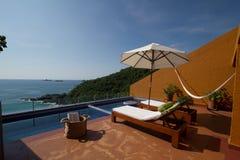 Terrace in Ixtapa Hotel. Luxury Terrace room hotel in Ixtapa, Mexico Royalty Free Stock Photography