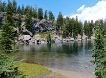 Terrace Lake, Lassen Volcanic National Park.  Stock Image