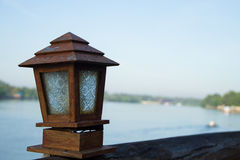 Terrace lamps Stock Images
