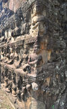 Terrace of Leper King in Angkor Thom temple , Cambodia. Royalty Free Stock Images