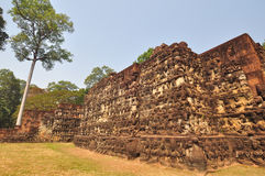 Terrace of Leper King in Angkor Thom temple  in Siem Reap, Cambo Royalty Free Stock Image