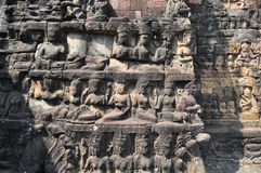 Terrace of Leper King in Angkor Thom temple Royalty Free Stock Photo