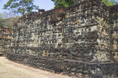 Terrace of the Leper King, Cambodia Stock Photos