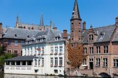 Riverside buildings, Bruges, Brugge, Belgium Royalty Free Stock Photos