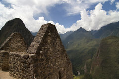 The terrace in Machu Picchu Stock Photography