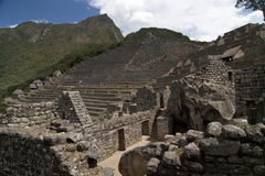 The terrace in Machu Picchu Stock Photo
