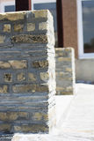 Terrace made of bricks Stock Image