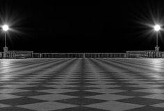 Terrace. Mascagni terrace by night taken in a cold winter night Stock Photo