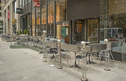Terrace on McGill college street Royalty Free Stock Photo