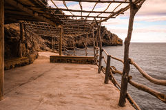 Terrace in the Mediterranean Stock Photos