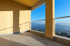 Terrace of a modern building Royalty Free Stock Photography