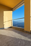 Terrace of a modern building Royalty Free Stock Images