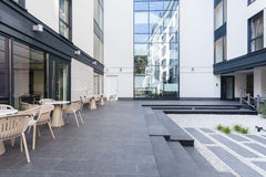 Terrace in modern business centre Royalty Free Stock Photos