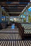 Terrace of modern hotel. Beautiful terrace of modern hotel royalty free stock images