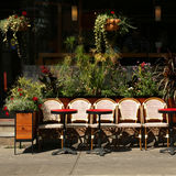 Terrace in Montreal Stock Photo