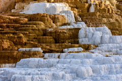 Terrace Mountain, Limestone and Rock Formations. At Mammoth Hot Springs in Yellowstone National Park, Wyoming, USA Stock Photography