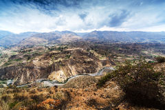Terrace, mountain and river Royalty Free Stock Photography