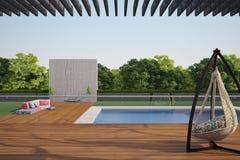 Terrace near swiming pool Stock Photo