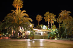 Terrace at night Royalty Free Stock Photography