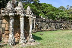Free Terrace Of The Elephants At Angkor Thom On Siemreap, Cambodia Royalty Free Stock Photography - 114048387