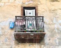 Terrace  in old Havana, Cuba Royalty Free Stock Image