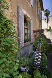 Terrace and old house Stock Photography