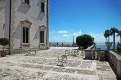 Terrace at Old Miami Estate Royalty Free Stock Photography