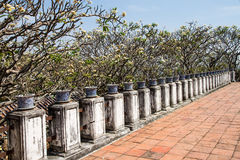 Terrace of old palace Royalty Free Stock Image
