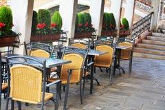 Terrace ouside, Venice city, Italy Royalty Free Stock Photography