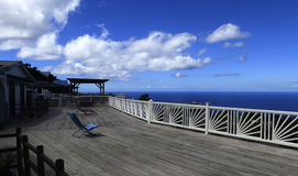 Terrace over the bay of Fort de France, Martinique Stock Photos