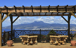 Terrace over the bay of Fort de France, Martinique Stock Photo