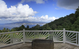 Terrace over the bay of Fort de France, Martinique Stock Images