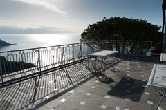 Terrace overlooking the sea Stock Photo