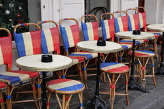 Terrace in Paris Stock Image