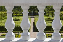 Terrace railing Royalty Free Stock Photo