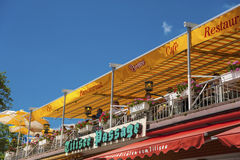 The terrace of the restaurant Bergsee in Titisee Neustadt Royalty Free Stock Images