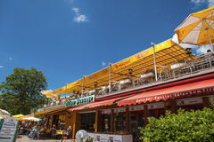 The terrace of the restaurant Bergsee in Titisee Neustadt Royalty Free Stock Photos