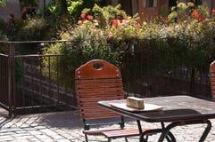 Terrace restaurant in Colmar Royalty Free Stock Image