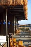 Terrace of restaurant Stock Images