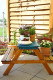 Terrace or roof gardening Royalty Free Stock Image