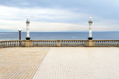 Terrace sea Stock Photography