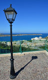 Terrace on the sea - Malta. Terrace overlooking Mellieha bay in Malta Royalty Free Stock Photos