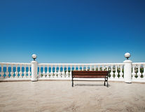 Terrace by the Sea Royalty Free Stock Photography