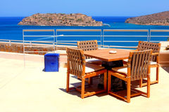 Terrace seaview at luxury resort Royalty Free Stock Photos