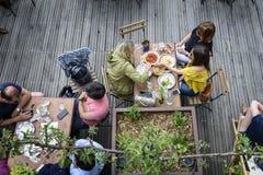 Terrace spirit in summer Stock Photos