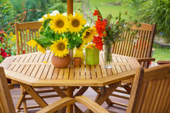 Terrace in summer Royalty Free Stock Images